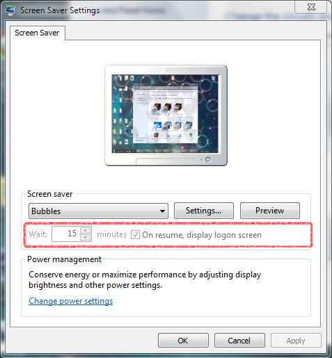 how to enable screensaver windows 7